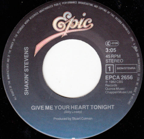 Shakin' Stevens - Give Me Your Heart Tonight *