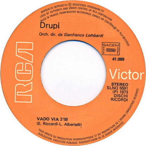 Drupi - Vado Via (Version Originale) *