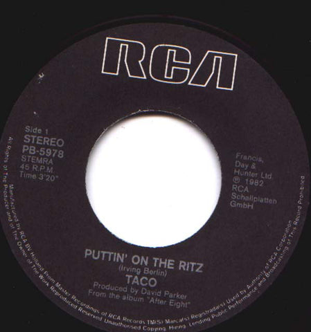 Taco - Puttin' On The Ritz *
