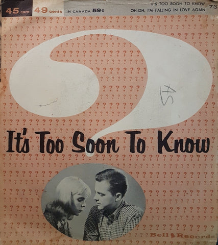 Tony Wilson - It's Too Soon To Know