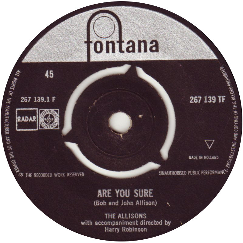 Allisons - Are You Sure