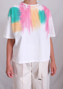 BRUSH HAND DYEING T SHIRT