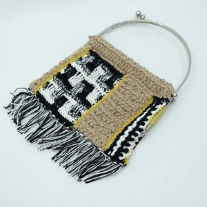 HAND KNITTED BAG - WASHI / JUTE / POLYETHYLENE - S