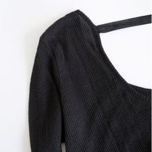 Load image into Gallery viewer, GAUZE WAFFLE - U NECK BACK RIBBON L/S 画像をギャラリービューアに読み込む, GAUZE WAFFLE - U NECK BACK RIBBON L/S