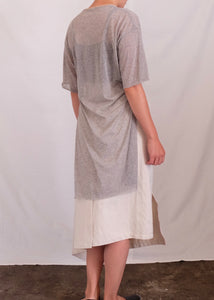STEP HEM T SHIRT - SHEER COTTON