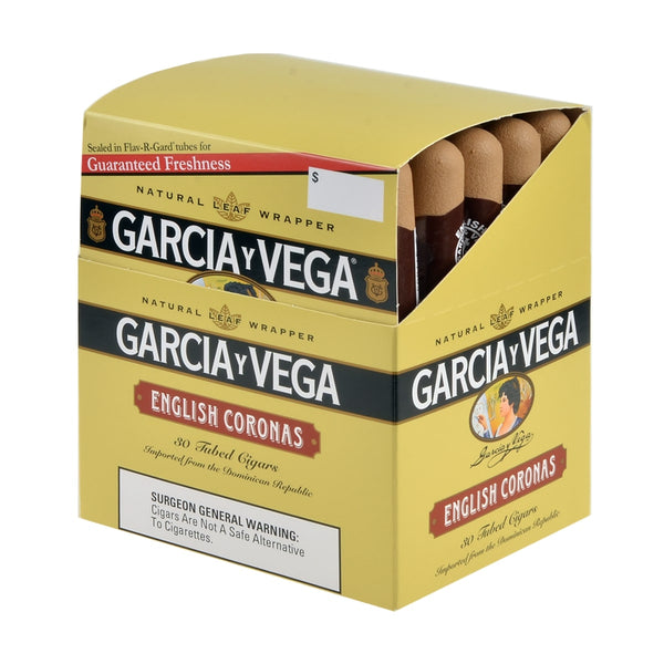 Garcia Y Vega English Corona Tubed Cigars Box of 30