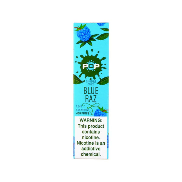POP Blue Raz Disposable Vape Device