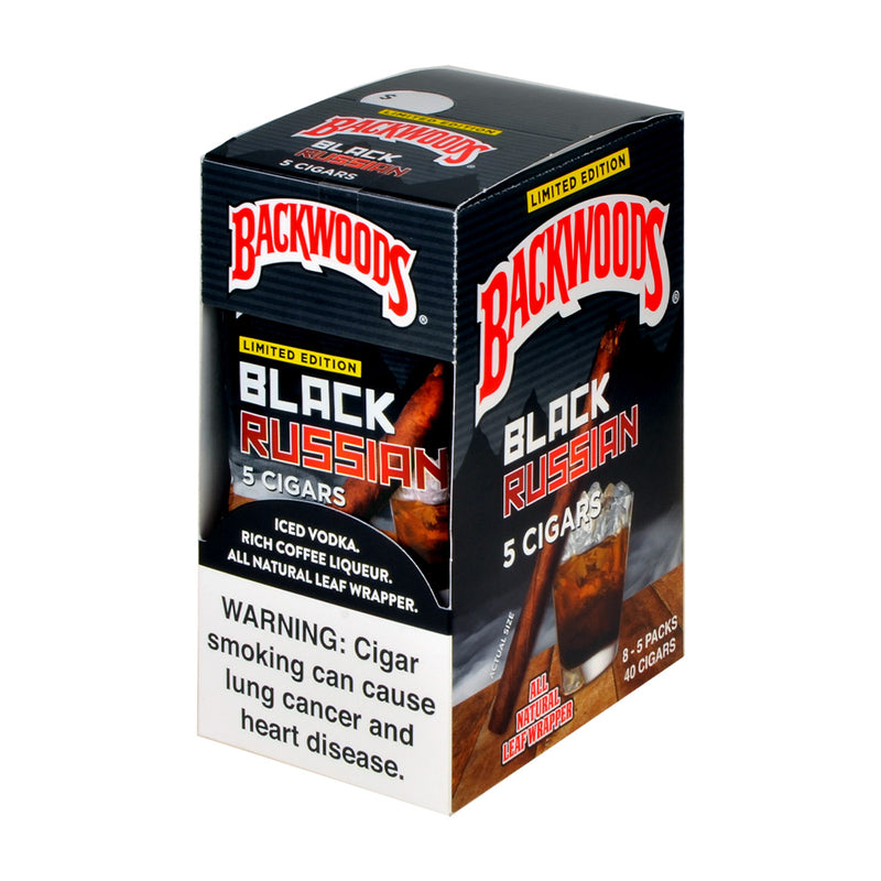 Backwoods Black Russian Cigars 8 Packs of 5