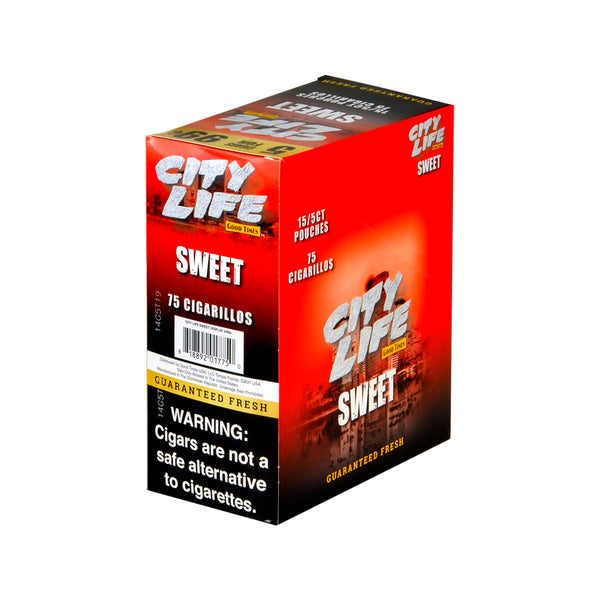 City Life Cigarillos 5 for 99 Cents Sweet 15 Packs of 5