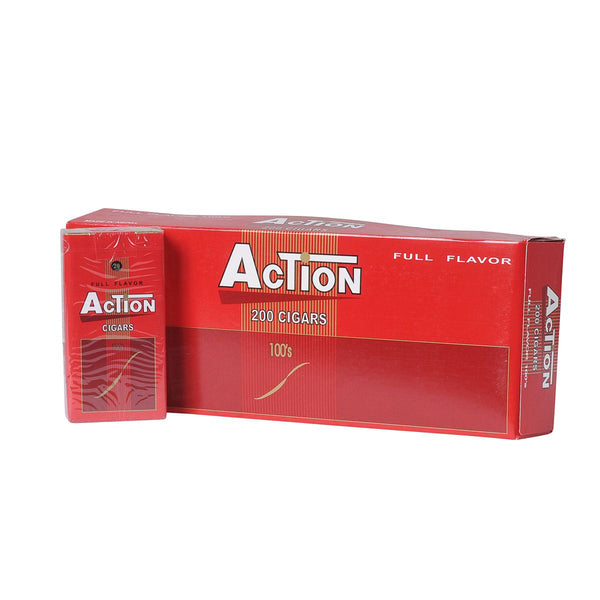 Action Full Flavor Filtered Cigars 10 Packs of 20