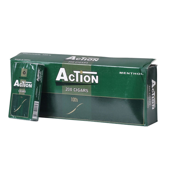 Action Menthol Filtered Cigars 10 Packs of 20
