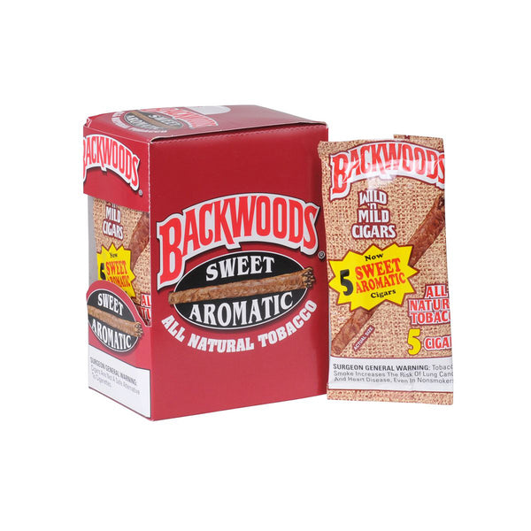 Backwoods Sweet Aromatic Natural Cigars 8 Packs of 5