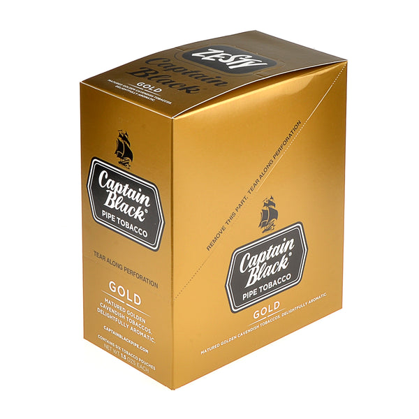 Captain Black Gold Pipe Tobacco 6 Pouches of 1.5 oz.