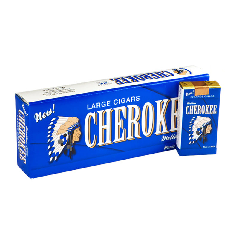 Cherokee Mellow Filtered Cigars 10 Packs of 20