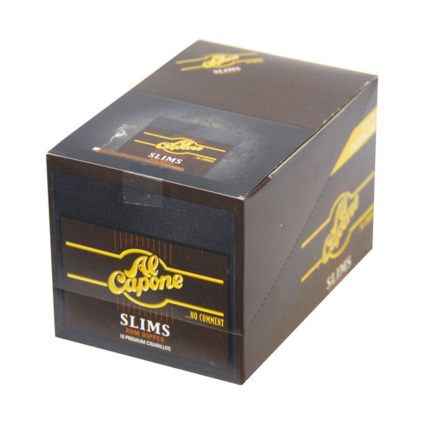 Al Capone Slims Rum Cigarillos 10 Packs of 10