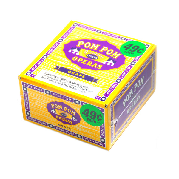 Pom Pom Operas Grape Cigarillos Pre-Priced Box of 60