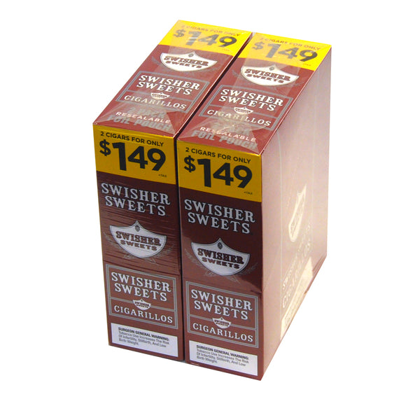 Swisher Sweets Cigarillos 1.49 Pre Priced 30 Packs of 2 Cigars Regular