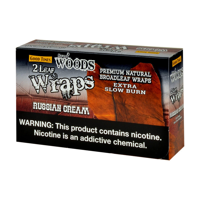 Good Times Sweet Woods Leaf Wrap Russian Cream 25 Pouches of 2