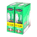 White Owl Cigarillos 1.49 Pre Priced 30 Packs of 2 Cigars Emerald