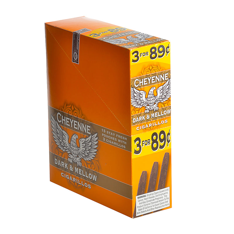 Cheyenne Cigarillos 3 for 89 Cents Dark and Mellow 15 Packs of 3