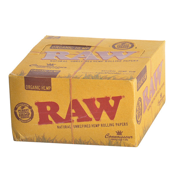 RAW Organic Connoisseur Papers With Tips King Size Slim Pack of 24