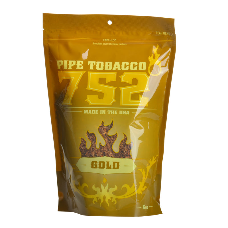 752 Gold Pipe Tobacco 6 oz. Bag