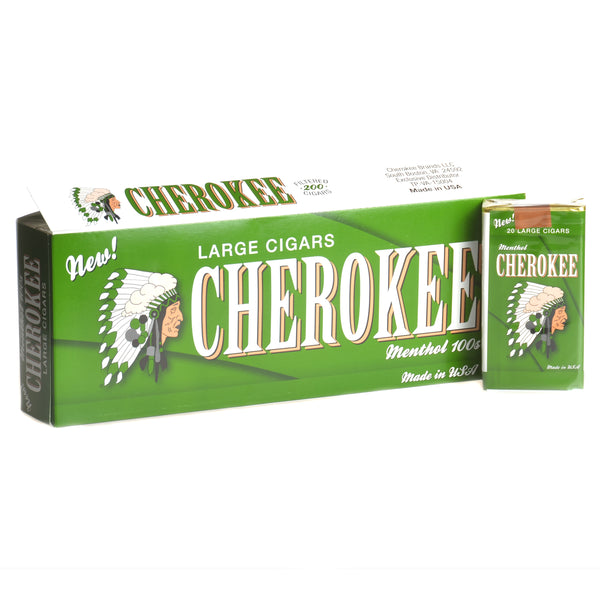 Cherokee Menthol Filtered Cigars 10 Packs of 20