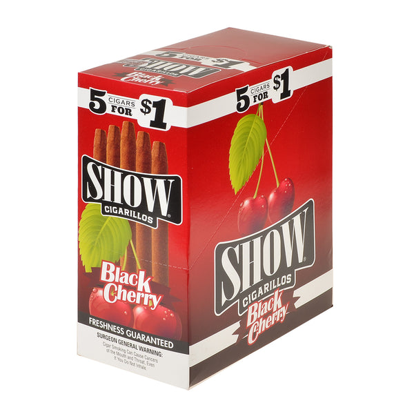 Show Cigarillos Black Cherry Pre Priced 15 Pouches of 5