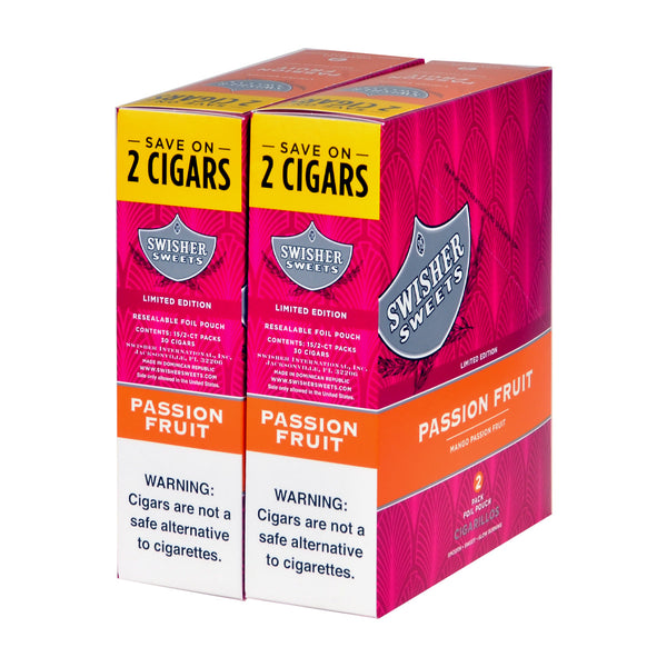 Swisher Sweets Cigarillos 30 Packs of 2 Cigars Passion Fruit