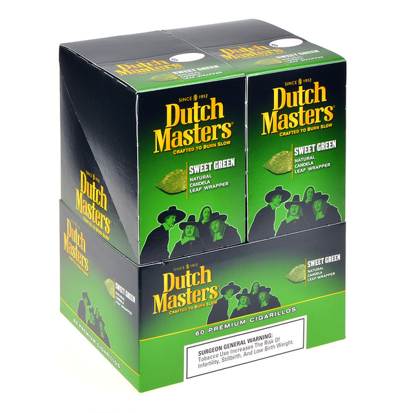 Dutch Masters Cigarillos Sweet Green 20 Pouches of 3