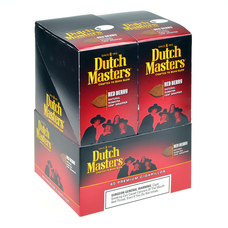 Dutch Masters Cigarillos Red Berry 20 Pouches of 3
