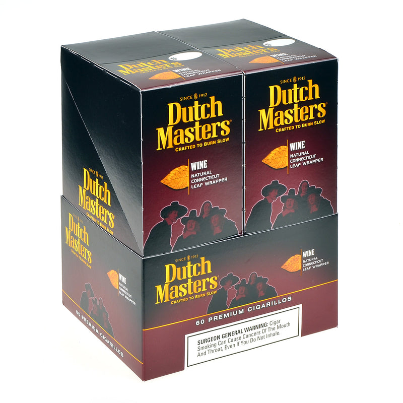 Dutch Masters Cigarillos Wine 20 Pouches of 3