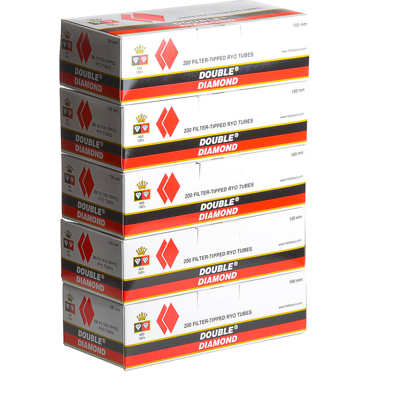 Double Diamond Filter Tubes 100 mm Full Flavor 5 Cartons of 200