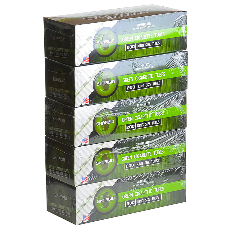 Shargio Filter Tubes King Size Green (Menthol) 5 Cartons of 200