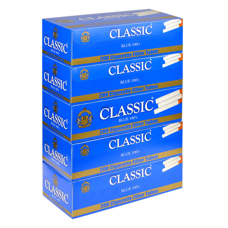 Classic Filter Tubes 100mm Blue (Light) 5 Cartons of 200