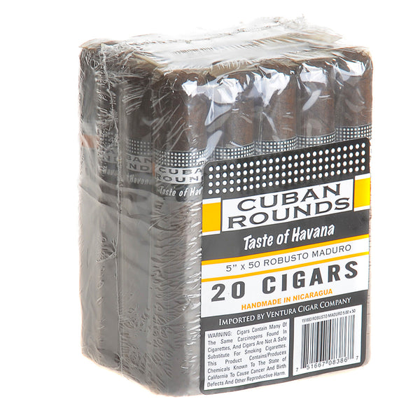 Cuban Rounds Robusto Maduro Cigars Pack of 20