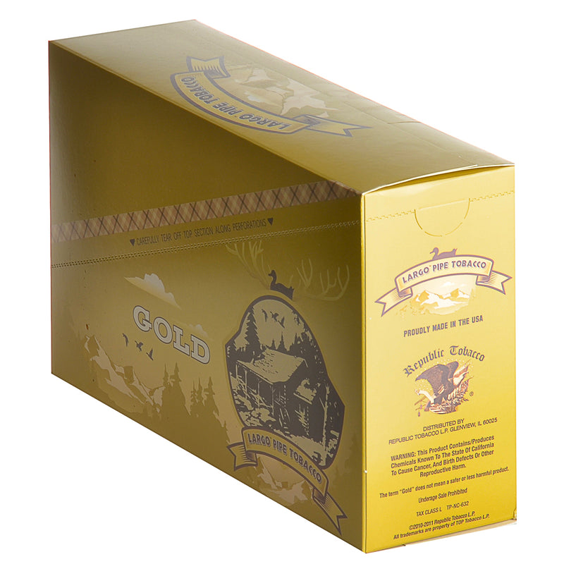 Largo Gold Pipe Tobacco 12 Pouches of 0.75 oz.