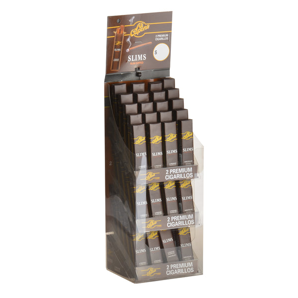 Al Capone Tower Slims Rum Cigarillos 60 Packs of 2