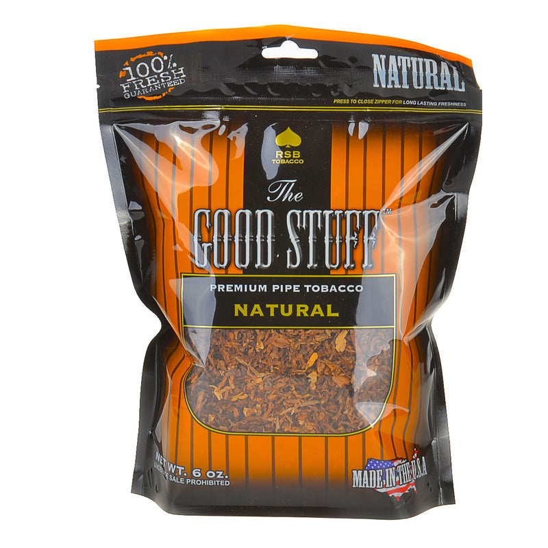 Good Stuff Natural Pipe Tobacco 6 oz. Bag