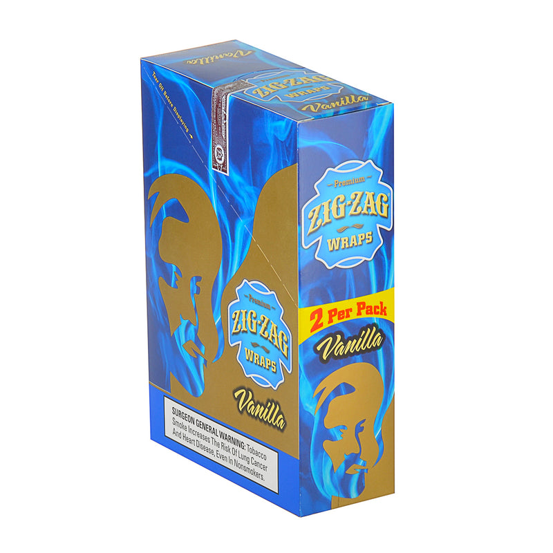 Zig Zag Wraps Premium Vanilla 25 Packs of 2