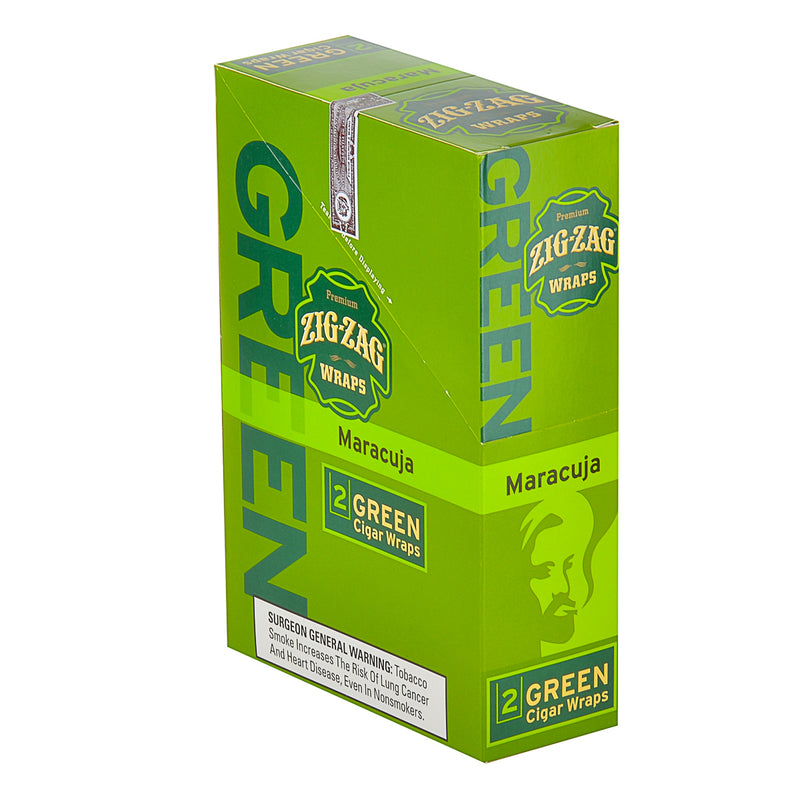 Zig Zag Wraps Premium Green Maracuja 25 Packs of 2