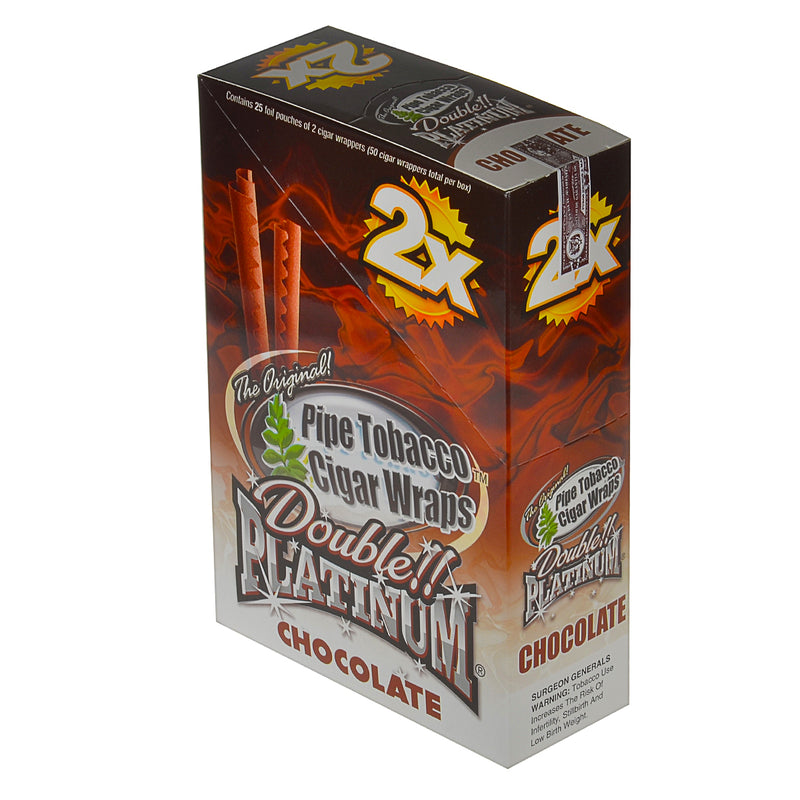 Double Platinum Chocolate Wraps 25 Pouches of 2