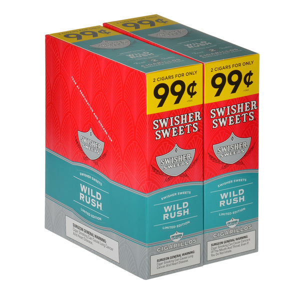 Swisher Sweets Cigarillos 99 Cent Pre Priced 30 Packs of 2 Cigars Wild Rush