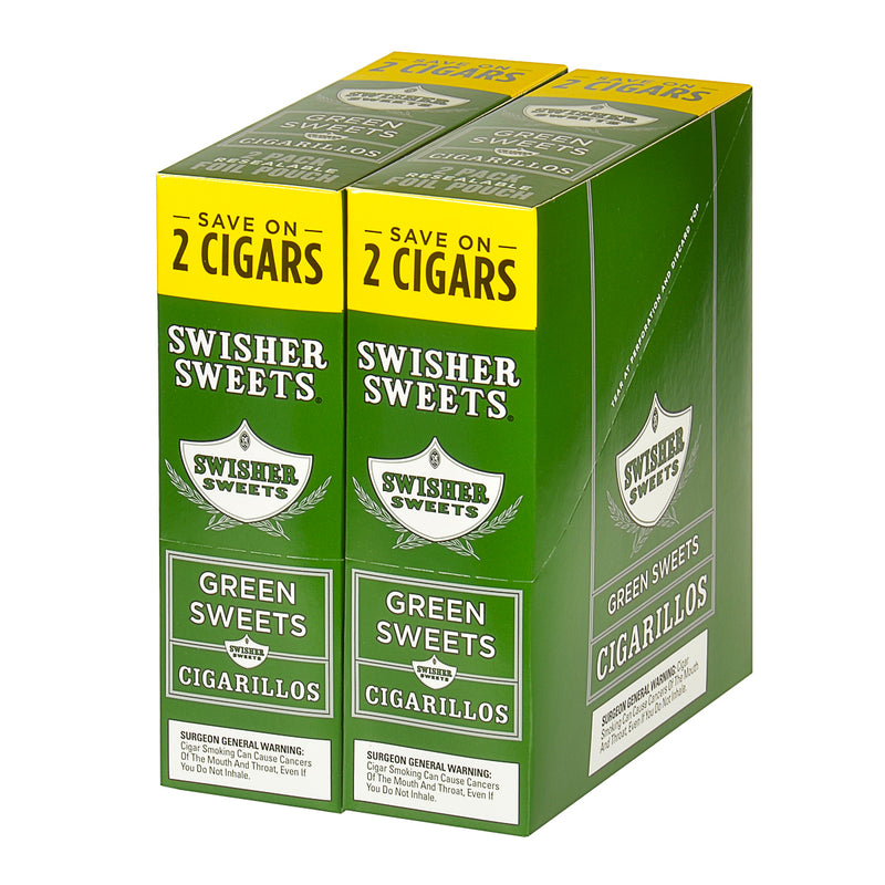 Swisher Sweets Cigarillos 30 Packs of 2 Cigars Green Sweet