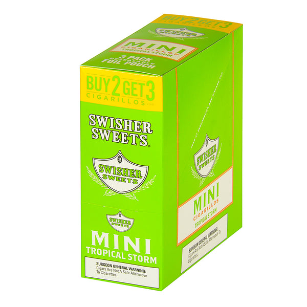 Swisher Sweets Mini Cigarillos 3 for 2 Tropical Storm 15 Pouches of 3