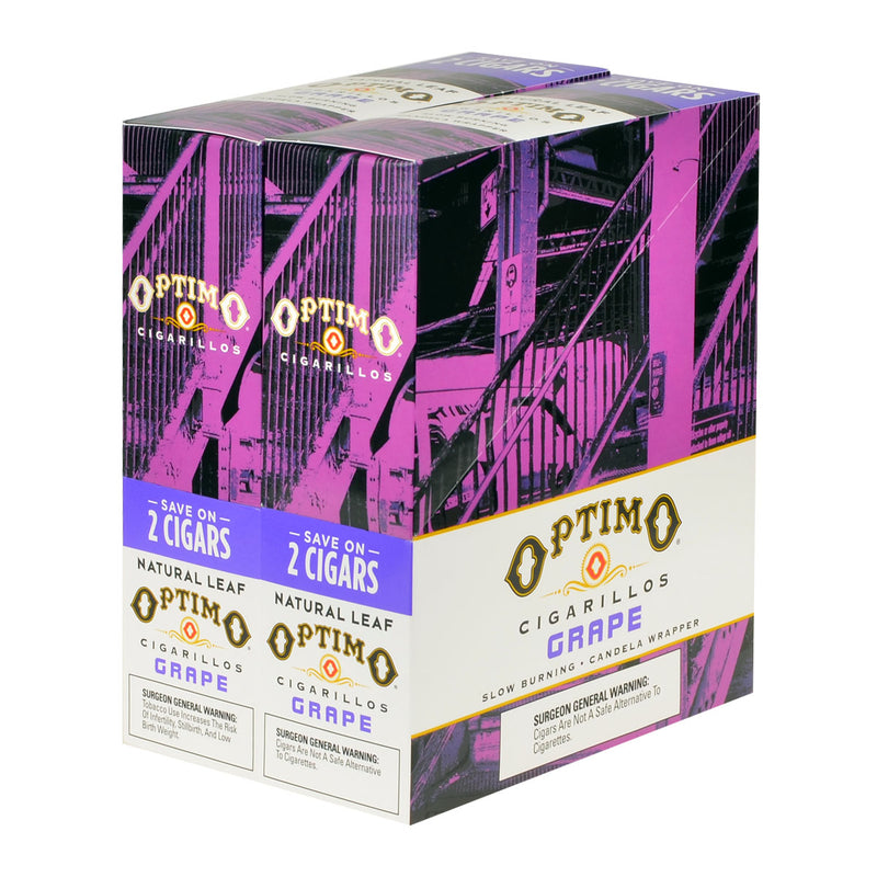 Optimo Save On 2 Cigarillos 30 Pouches of 2 Grape