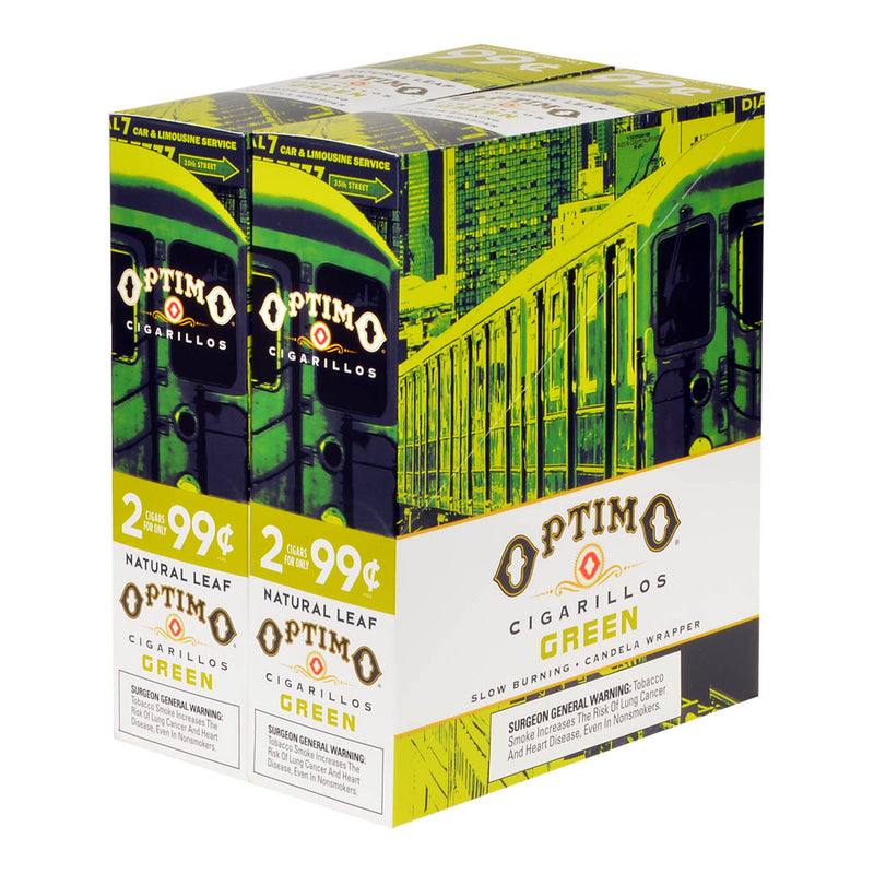 Optimo 2 for 99¢ Cigarillos 30 Pouches of 2 Green