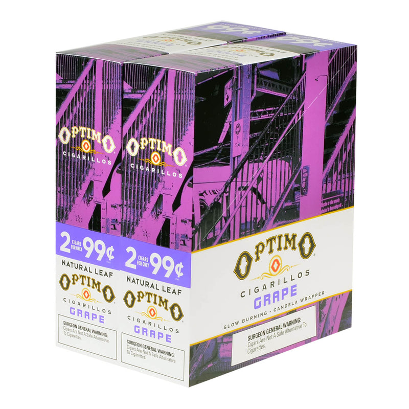 Optimo 2 for 99¢ Cigarillos 30 Pouches of 2 Grape
