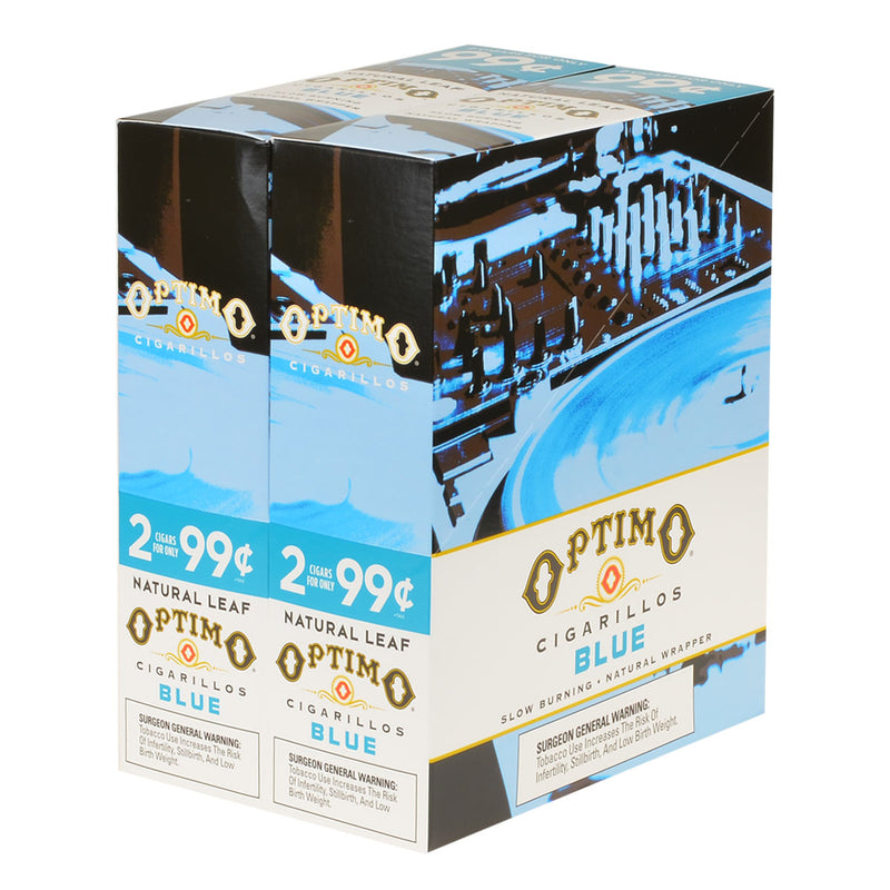 Optimo 2 for 99¢ Cigarillos 30 Pouches of 2 Blue