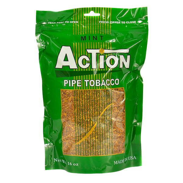 Action Mint Pipe Tobacco 16 oz. Bag